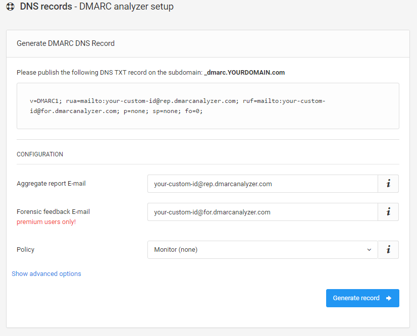 How to create a DMARC record - DMARC Analyzer