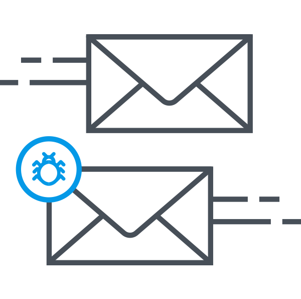 The forensic reports from DMARC are available in our tool. This allows you to track invalid emailflows faster.