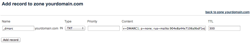 DMARC Record in DNS Management
